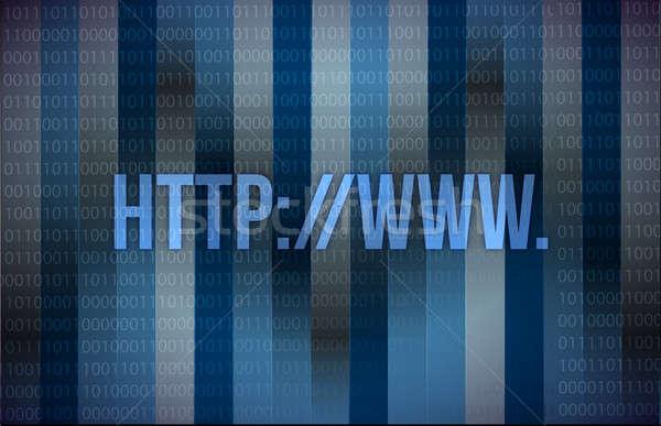 компьютер http веб страница иллюстрация дизайна Сток-фото © alexmillos