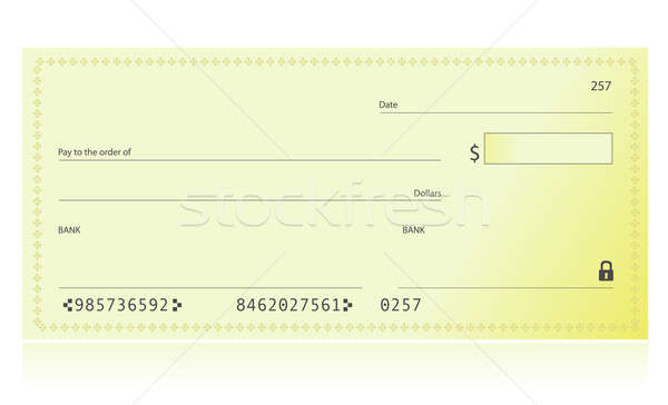 Bank Check illustration isolated over a white background Stock photo © alexmillos