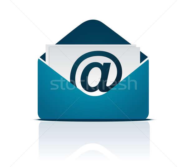 Envelope e-mail assinar isolado branco mão Foto stock © alexmillos