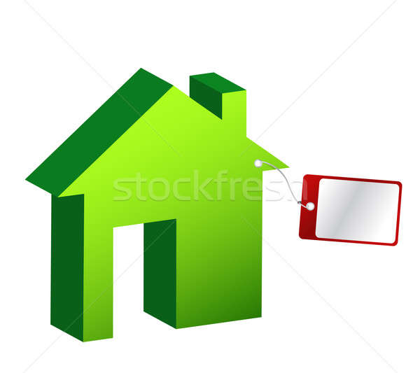 House with price tag illustration design Stock photo © alexmillos