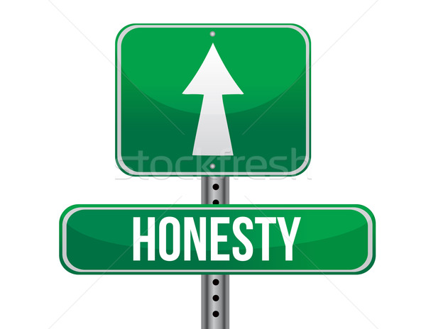 honesty road sign illustration design over a white background Stock photo © alexmillos