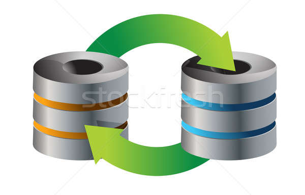 servers Database backup concept illustration design over white Stock photo © alexmillos