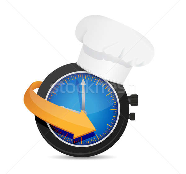 time to cook. illustration design over a white background Stock photo © alexmillos