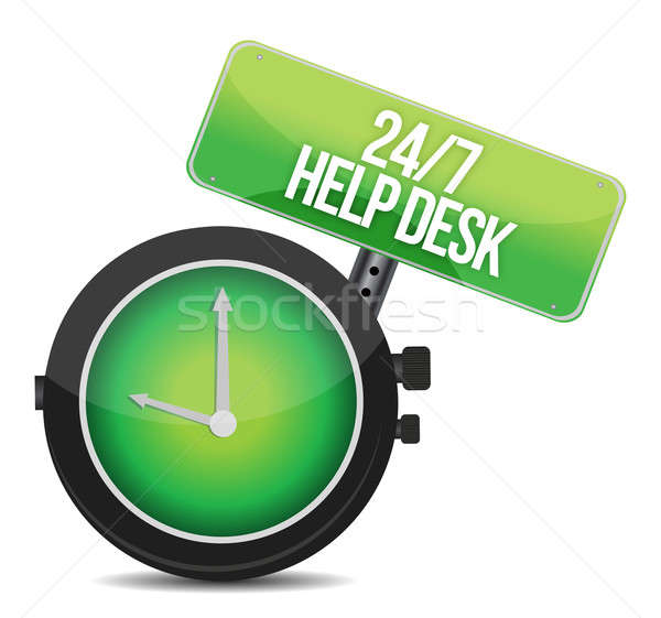help desk 24 - 7 illustration design over a white background Stock photo © alexmillos