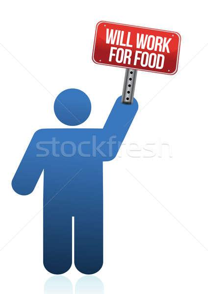 Trabajo alimentos ilustración diseno blanco negocios Foto stock © alexmillos