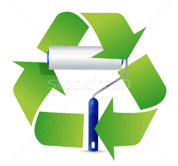 recycle paint roller illustration design over a white background Stock photo © alexmillos