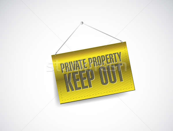 private property keep out sign banner illustration design Stock photo © alexmillos