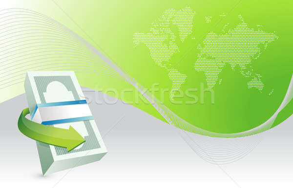 business monetary economy concept illustration design background Stock photo © alexmillos