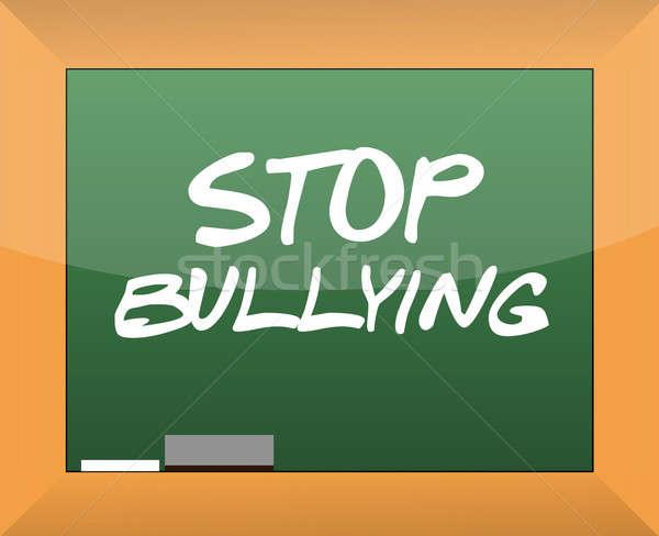 Stop megfélemlítés szöveg írott iskolatábla háttér Stock fotó © alexmillos