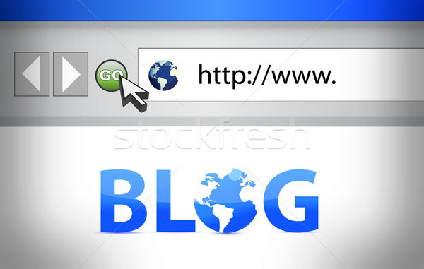 Blog navegador tela ilustração negócio computador Foto stock © alexmillos