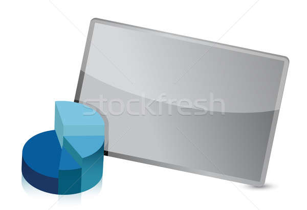 Business pie chart frame illustration design Stock photo © alexmillos