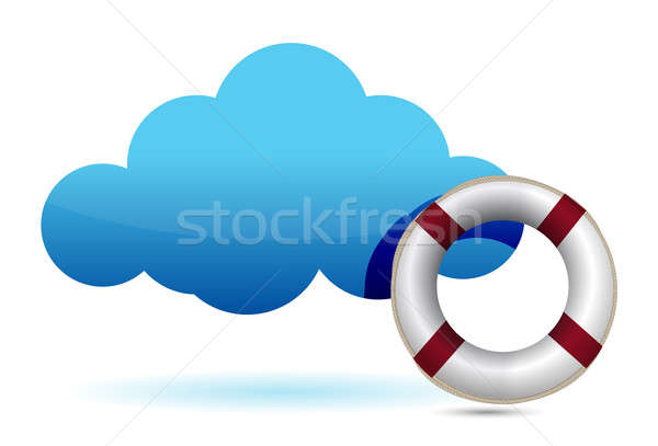 Cloud computing SOS lifesaver illustration  Stock photo © alexmillos
