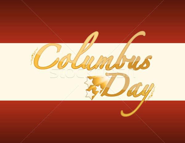 Golden Columbus Day card  Stock photo © alexmillos