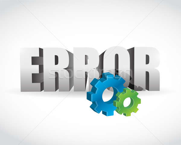 error 3d text illustration design over a white background Stock photo © alexmillos
