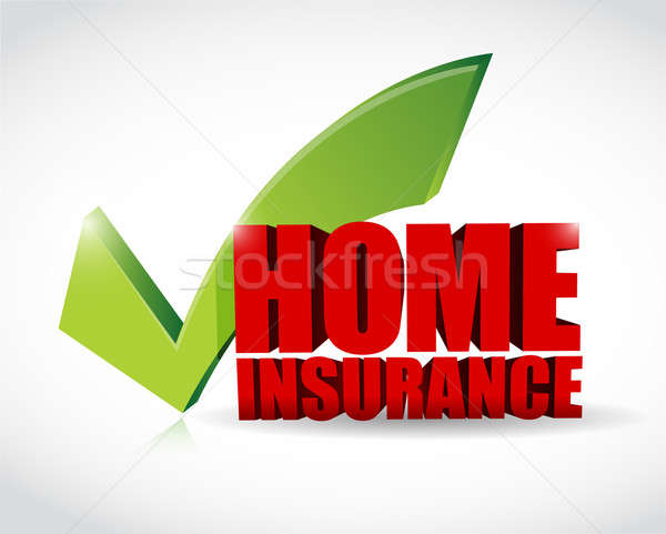 home insurance approval check mark illustration design Stock photo © alexmillos