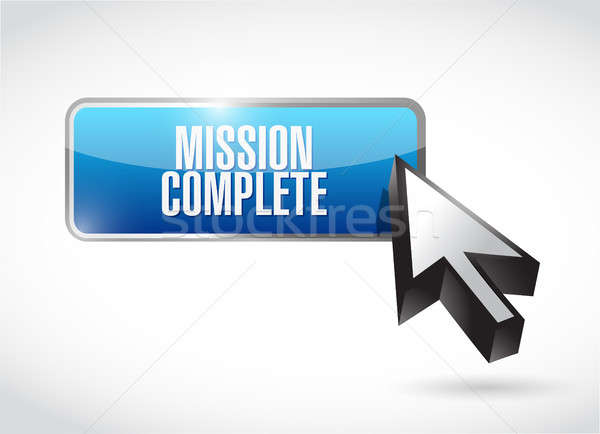 mission complete button sign concept Stock photo © alexmillos