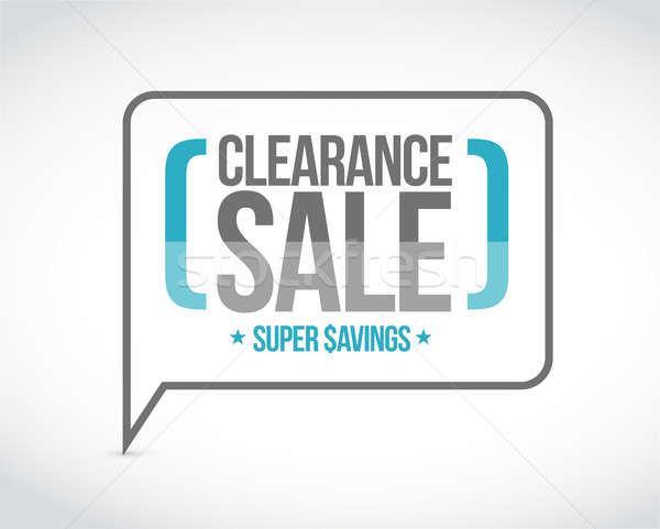 clearance sale, super savings message sign Stock photo © alexmillos