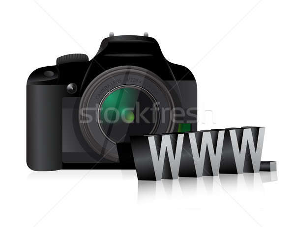 Camera www online internet illustratie ontwerp Stockfoto © alexmillos