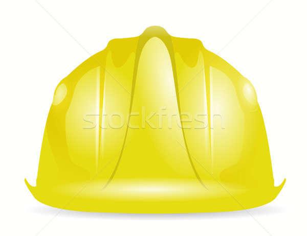 construction helmet illustration Stock photo © alexmillos