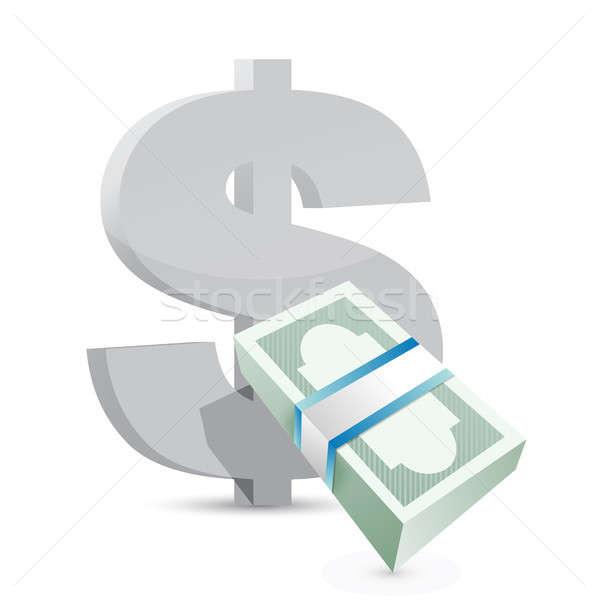 Dólar moeda troca ilustração projeto Foto stock © alexmillos