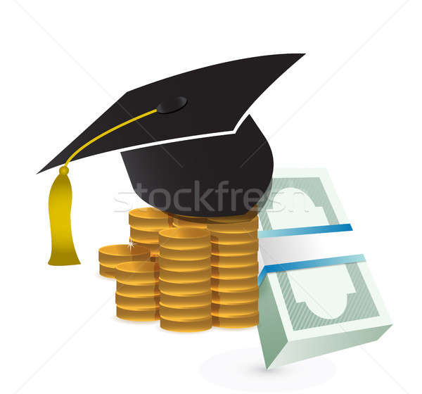 tuition fee. education costs concept illustration Stock photo © alexmillos