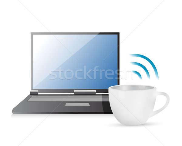 internet connection coffee mug concept Stock photo © alexmillos