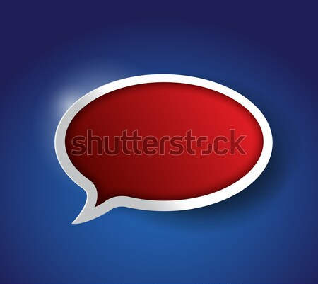 Stock photo: red Speech bubble, communication concept