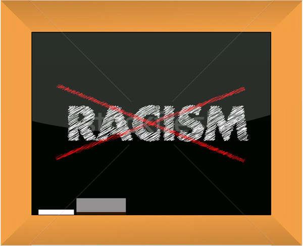 Dessin à la craie pas racisme illustration design lettre Photo stock © alexmillos