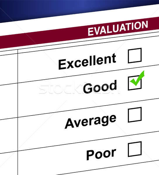 Evaluation list and check box illustration design Stock photo © alexmillos