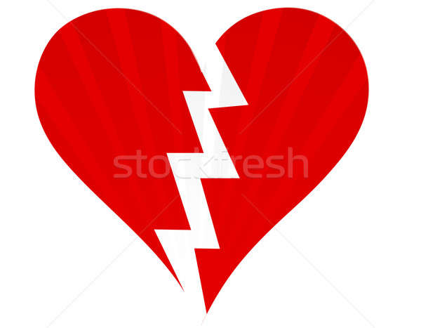 Broken heart isolated on white Stock photo © alexmillos