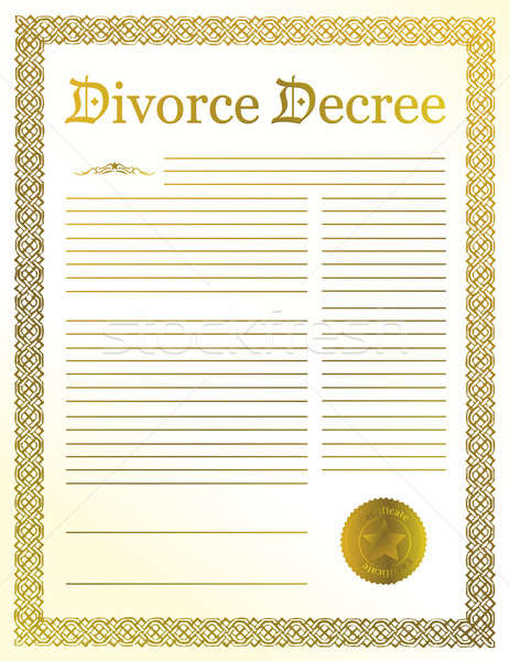 Divorce Decree Stock photo © alexmillos