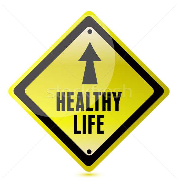 Healthy Life Road Sign illustration design Stock photo © alexmillos