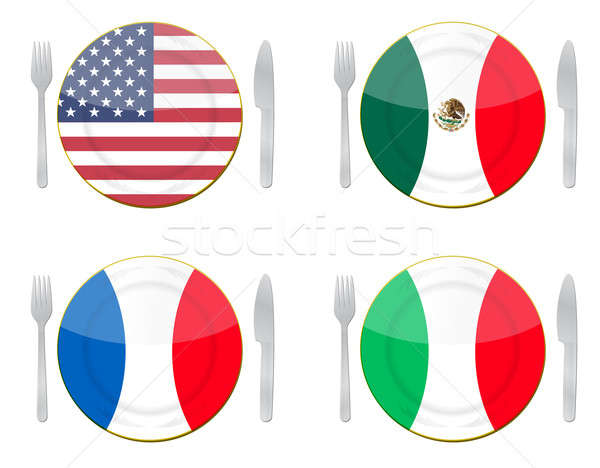 International food illustration design Stock photo © alexmillos