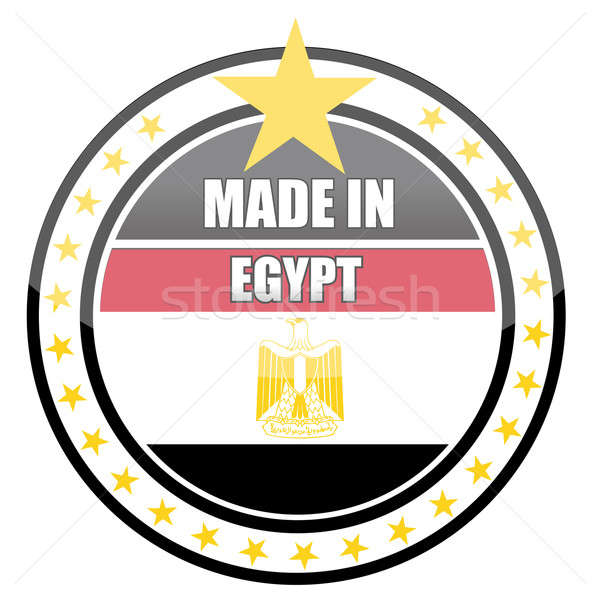 Made in egypt illustration stamp isolated over a white backgroun Stock photo © alexmillos