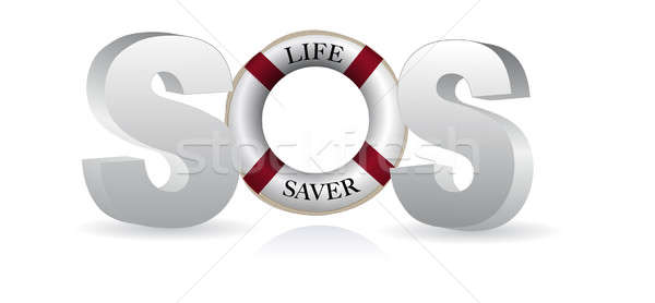 SOS Life Saver Stock photo © alexmillos
