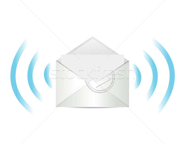 Mail communication illustration design signe réseau Photo stock © alexmillos