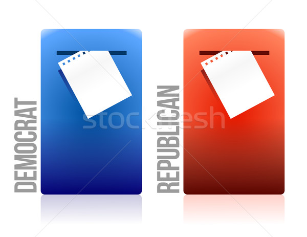 voting ballot democrat and republican illustration design Stock photo © alexmillos