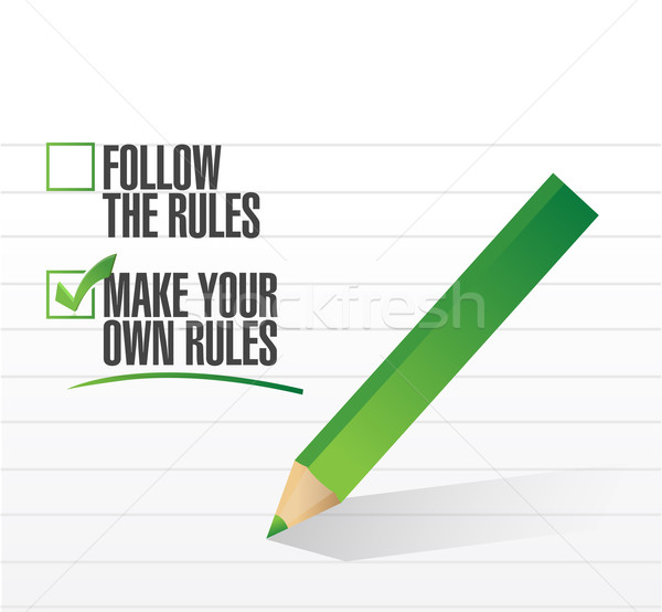 make your own rules check of approval illustration design Stock photo © alexmillos