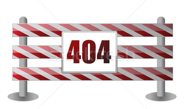404 örnek dizayn beyaz imzalamak iletişim Stok fotoğraf © alexmillos