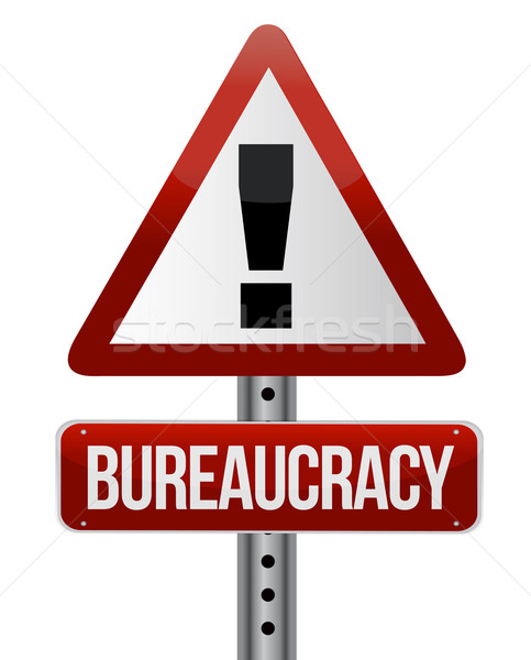 Route panneau de signalisation bureaucratie affaires papier fond Photo stock © alexmillos