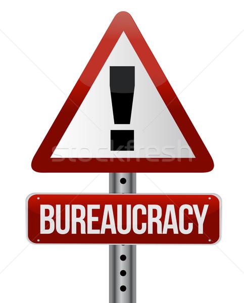 Weg verkeersbord bureaucratie business papier achtergrond Stockfoto © alexmillos