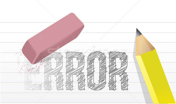 Erase errors concept illustration design  Stock photo © alexmillos