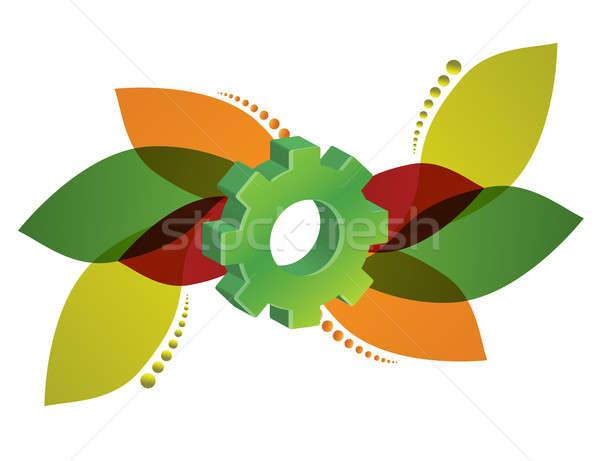 Floral gear design  Stock photo © alexmillos
