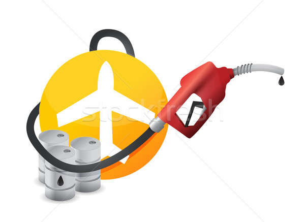 Plane with a gas pump nozzle Stock photo © alexmillos