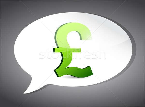 İngilizler pound konuşma balonu örnek dizayn grafik Stok fotoğraf © alexmillos