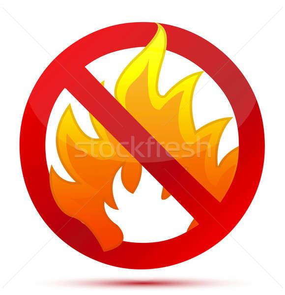 Forbidden Fire illustration design Stock photo © alexmillos