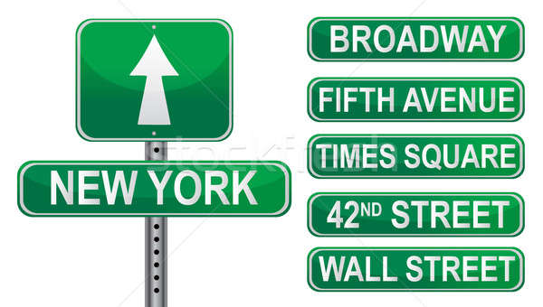 New York Street signs. Vector File available.  Stock photo © alexmillos