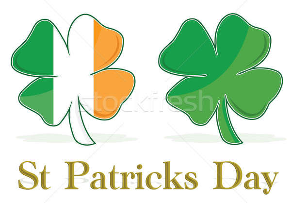 Irish Leafs clover flag / vector Stock photo © alexmillos