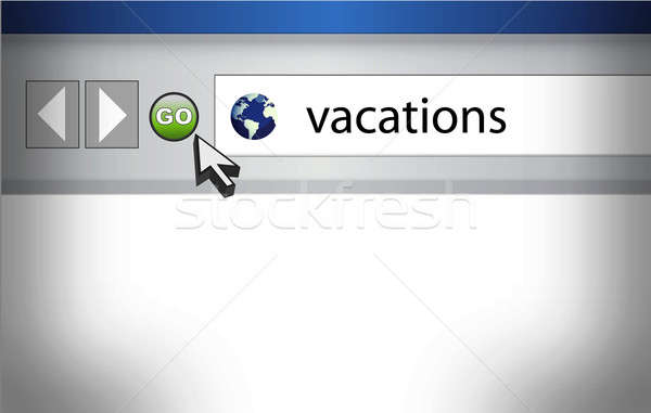 World Wide Web browser background with word vacations and cursor Stock photo © alexmillos