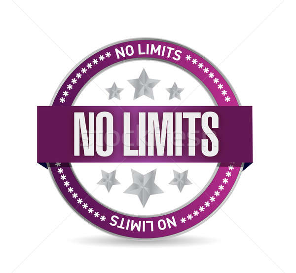 no limits seal stamp illustration design over a white background Stock photo © alexmillos